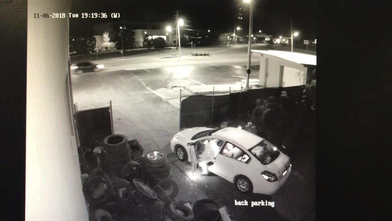 King Tire's surveillance video of robbery, provided by Jackson Police Department.