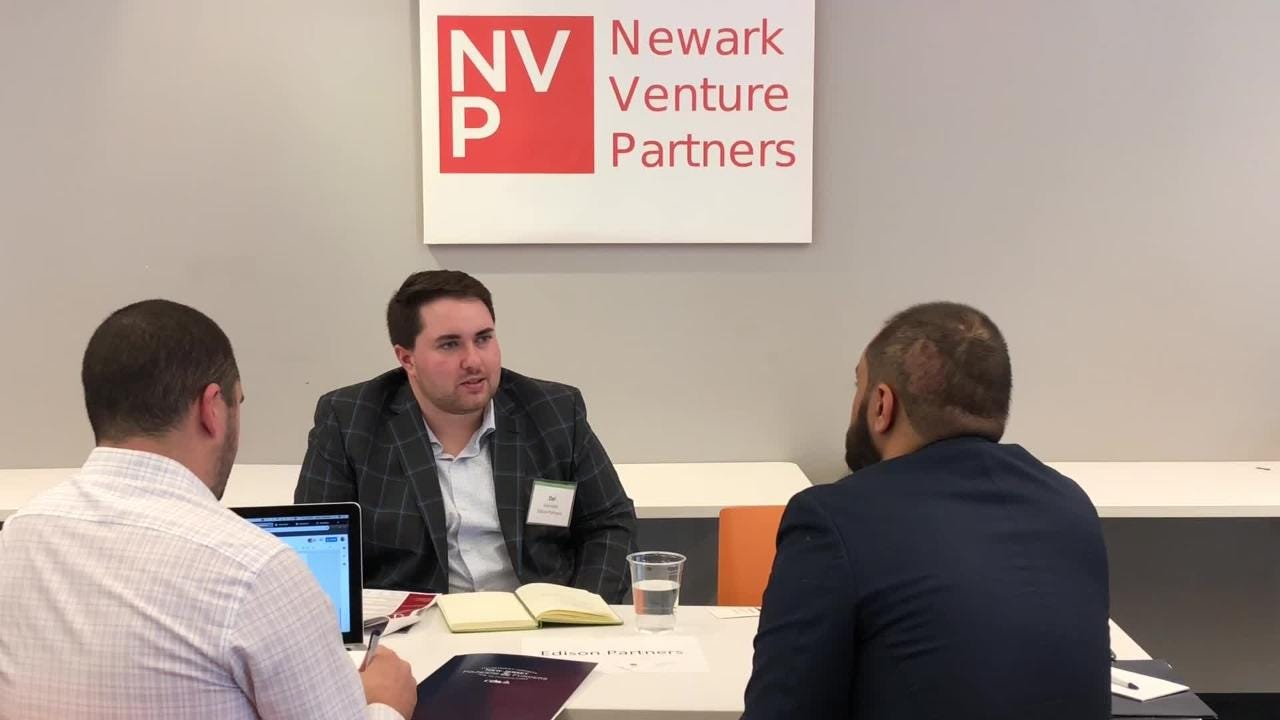 Mike Glaicar, founder of TrueConnect in Holmdel, met with potential investors and made his best pitch as part of Founders & Funders.