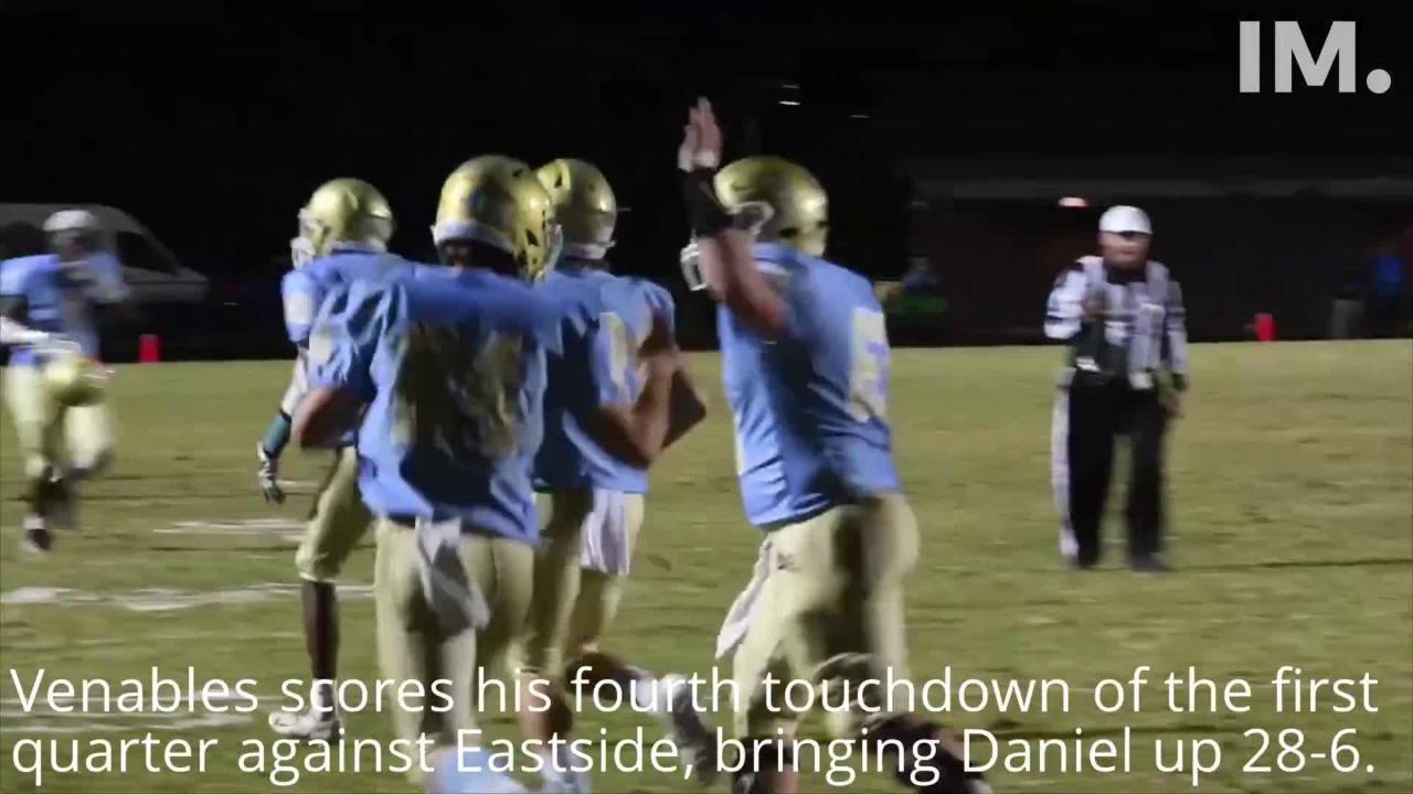 DW Daniel defeats Eastside 49-20 in the first-round playoff game on Thursday, Nov. 8, 2018. Here are the highlights. Videos shot by Ken Ruinard/Staff.