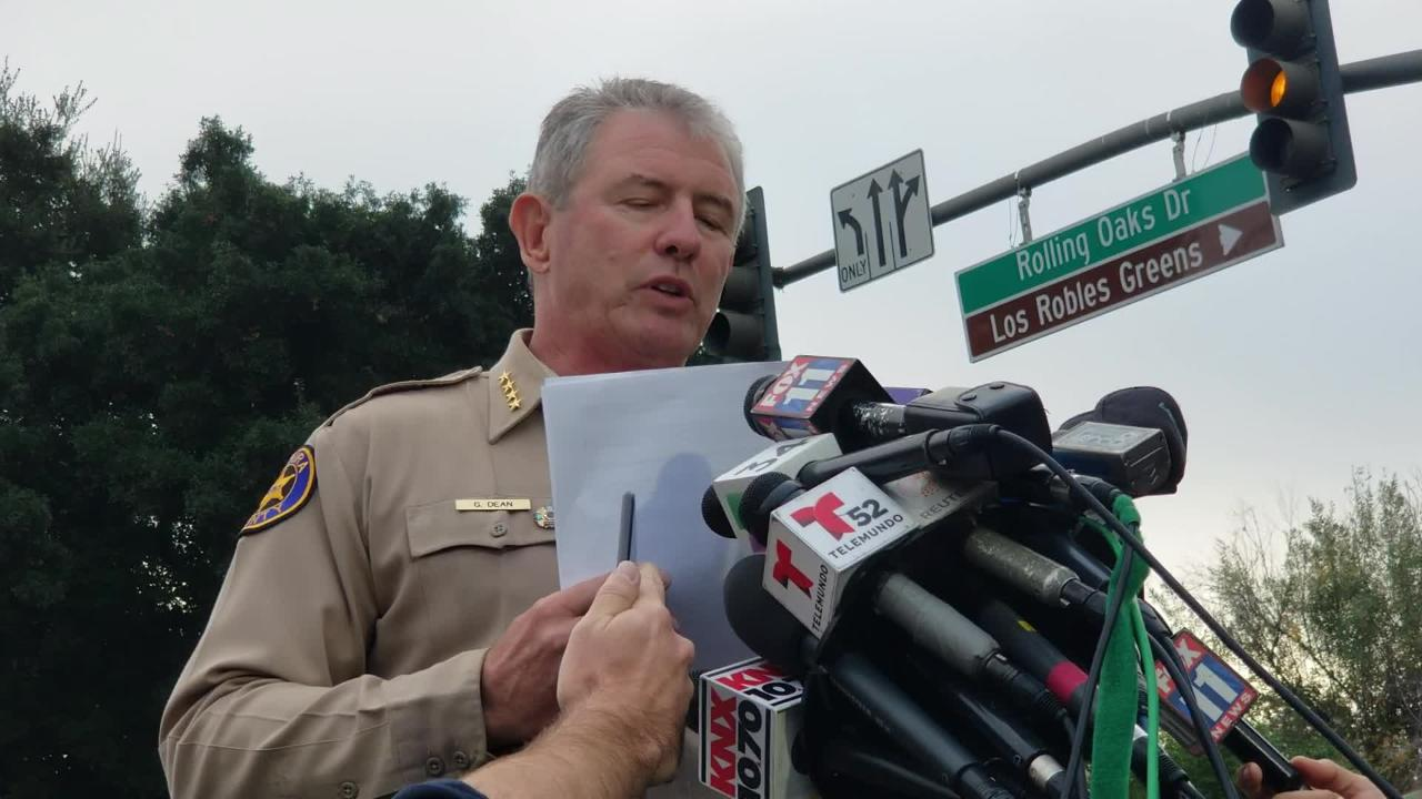 Ventura County Sheriff Geoff Dean holds a press conference to give an update on on Ian Long, the Thousand Oaks gunman.