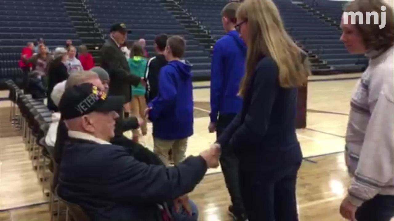 Galion Schools Friday honored veterans during an assembly at Galion High School.