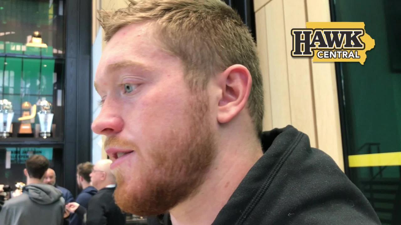Iowa defense end Parker Hesse explains what coach Kirk Ferentz means to him