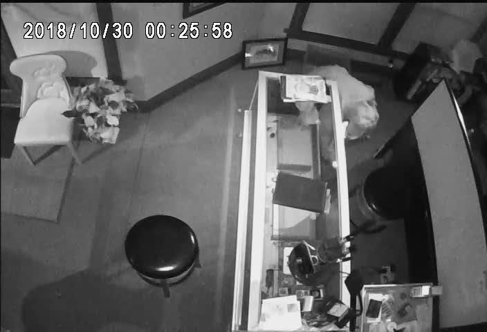 The Battle Creek Police Department provided video of a burglary suspect at Pearlman's Jewelers on Oct. 30.