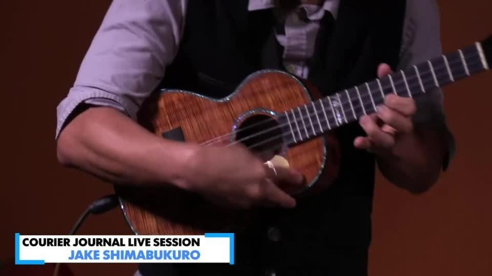 Pop rock ukulele master Jake Shimabukuro performed at the Courier Journal Friday afternoon.