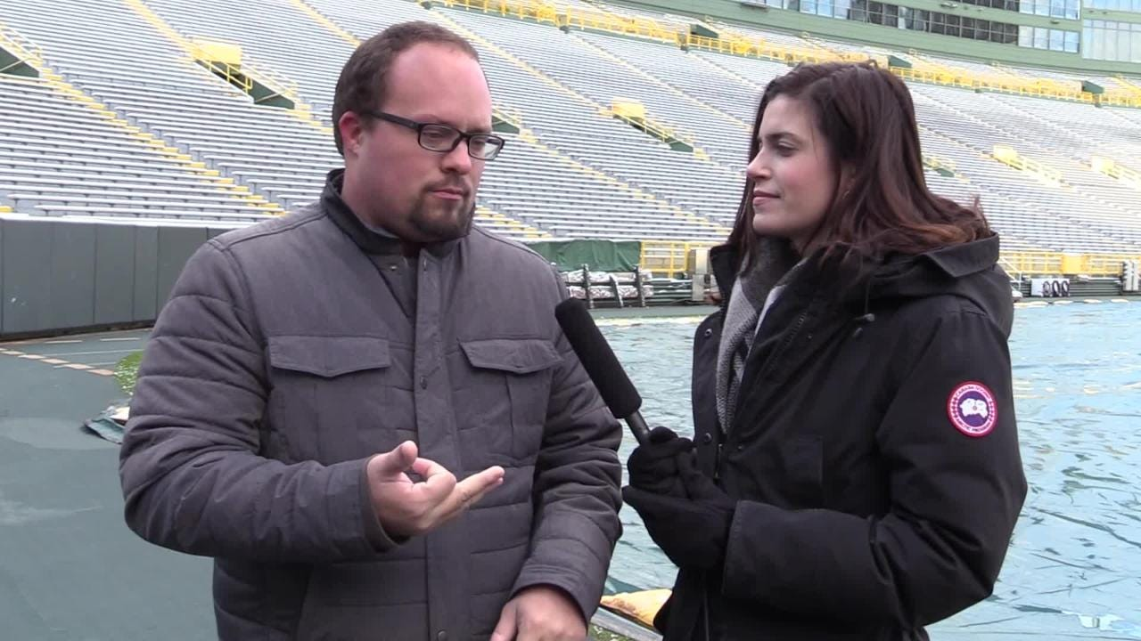 PackersNews.com reporters Ryan Wood and Olivia Reiner bear the Green Bay elements and make their predictions for Sunday's game against the Dolphins.