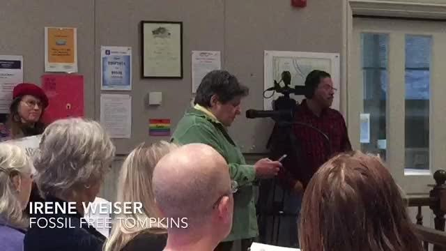 Residents spoke against Cayuga Power Plant's to convert to natural gas. Legislator Mike Sigler spoke in favor of the plant's proposal.