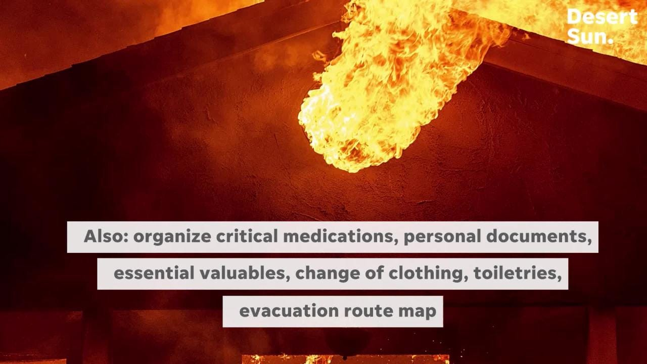 Use this wildfire evacuation guideline