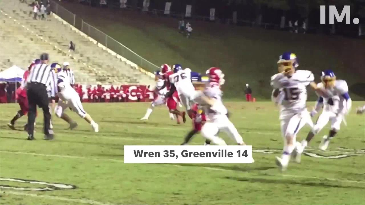 See some highlights from Anderson area teams in round one of the high school playoffs in Upstate South Carolina.