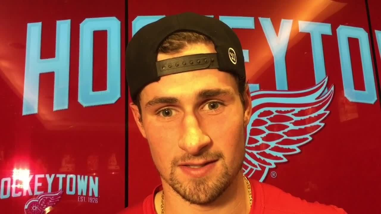 Why Dylan Larkin and Andreas Athanasiou are so valuable to the Detroit Red Wings. Filmed Nov. 9, 2018 in Detroit.
