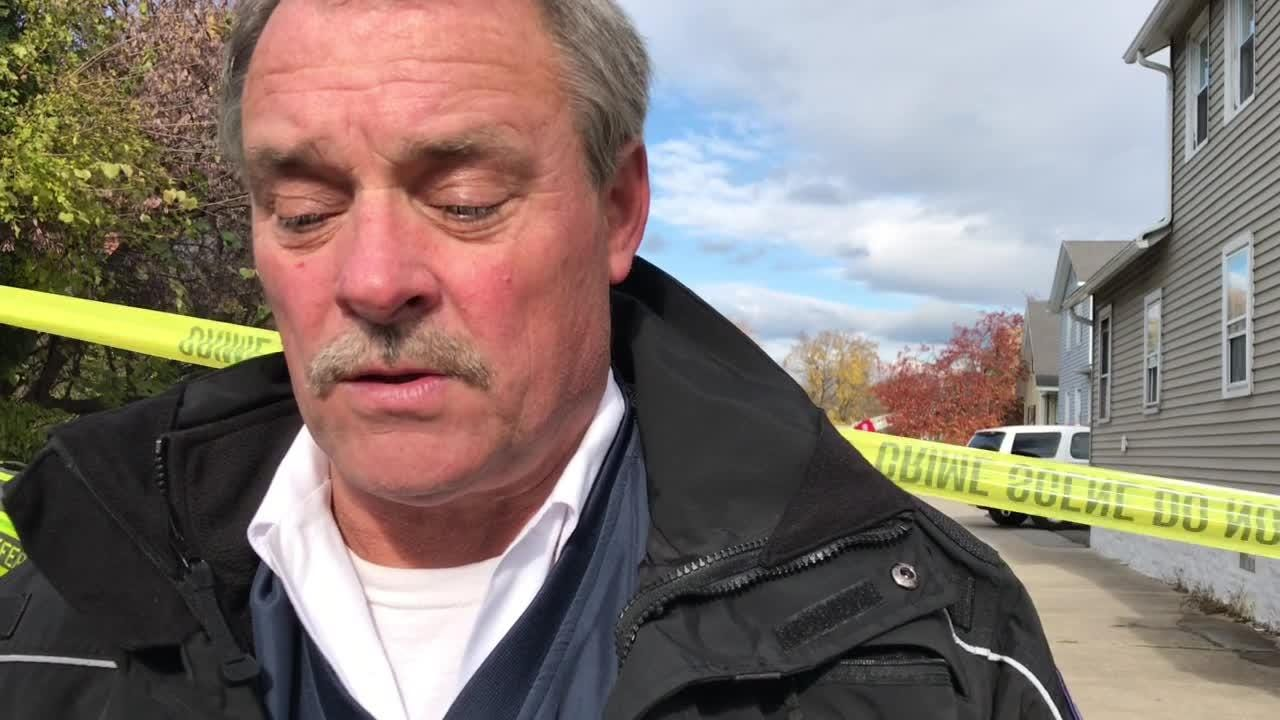 Rochester Fire Department Deputy Chief David Kaltenbach describes response to fire at 48 Bloomfield Place on Nov. 10.