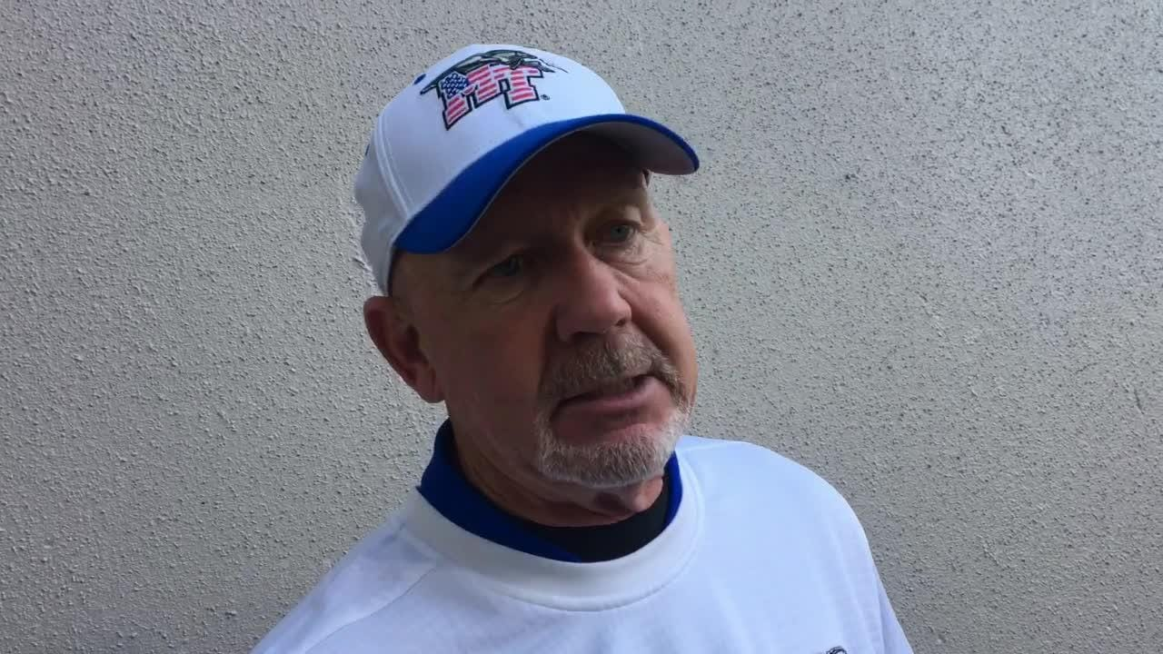 MTSU coach Rick Stockstill gives his thoughts following the Blue Raiders' 48-32 win over UTEP on Nov. 10, 2018.