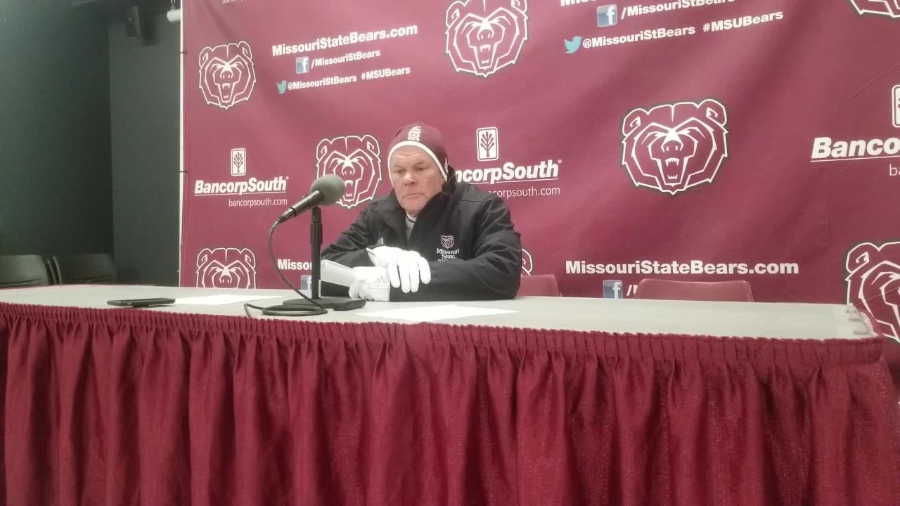 MSU coach Dave Steckel talks loss to No. 1 Bison