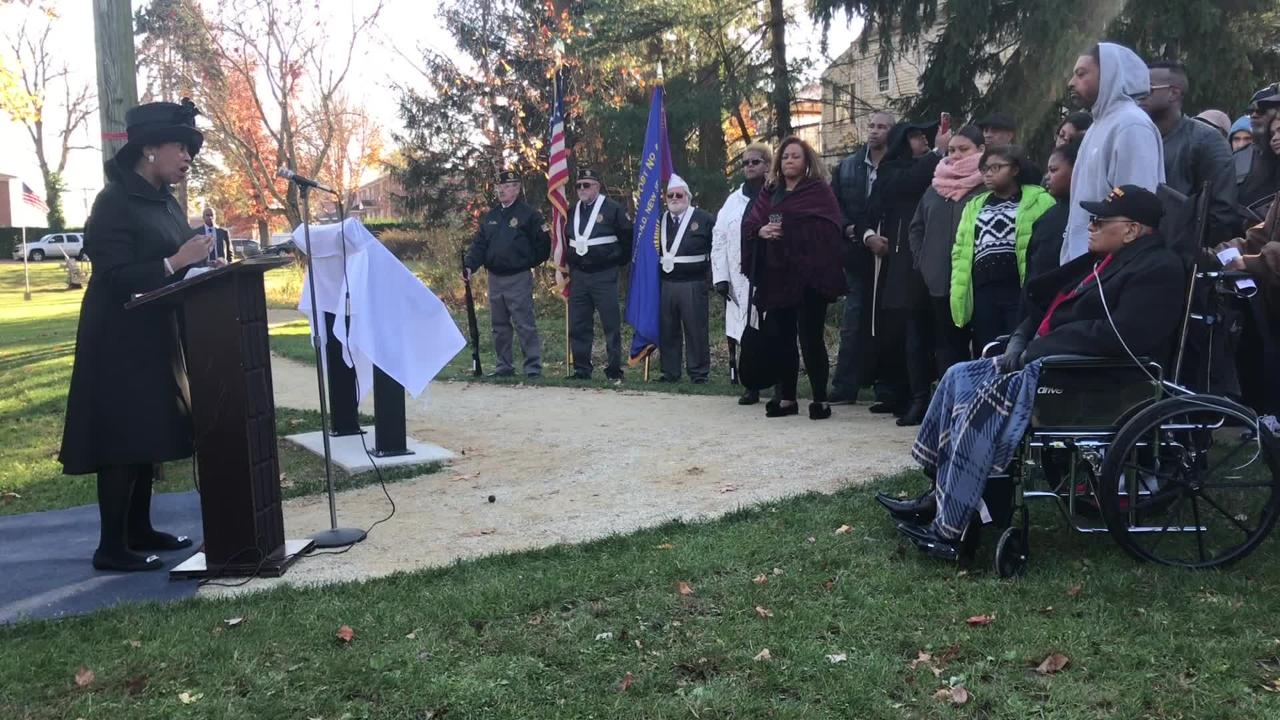 """NJ Lt. Gov. Sheila Oliver commemorated the six Freehold brothers who served in World War II, including Bigerton """"Buddy"""" Lewis Jr."""