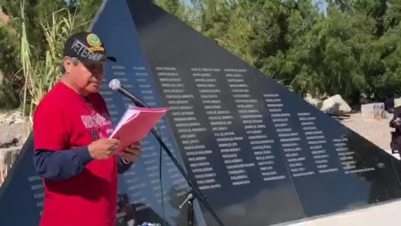 2018 Northeast Veterans Day Parade & Ceremony, name added to the EP Vietnam Memorial.