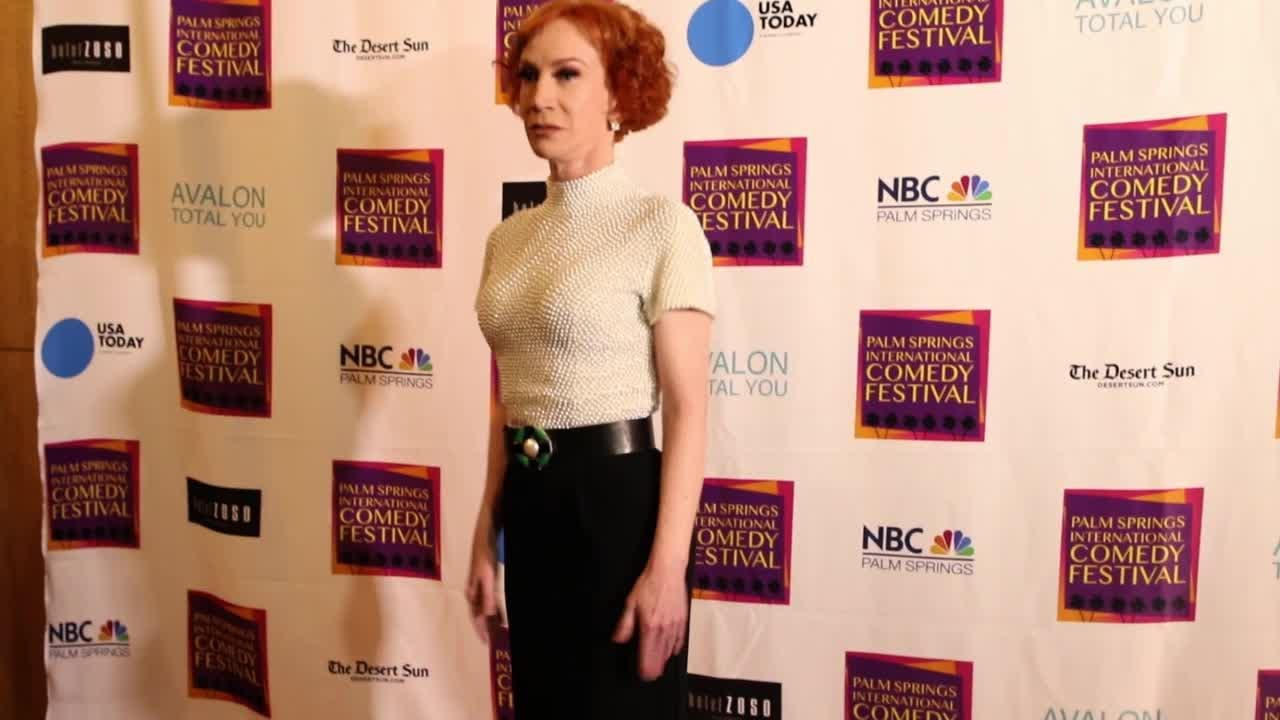 Palm Springs International Comedy Festival launched with small attendance Saturday but Kathy Griffin and other comics delivered messages with laughs.