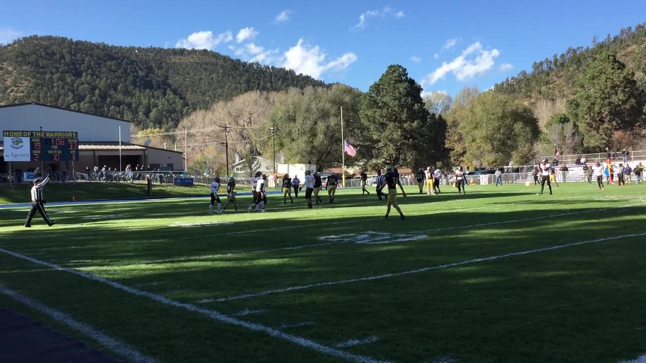 The Ruidoso warriors played the Aztec Tigers in the first round 4A playoffs with an Aztec victory.