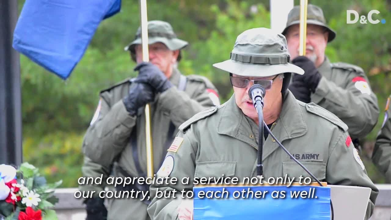 Vietnam veterans gathered at Highland Park Sunday for a ceremony that had one clear message: Thank a veteran for their service.