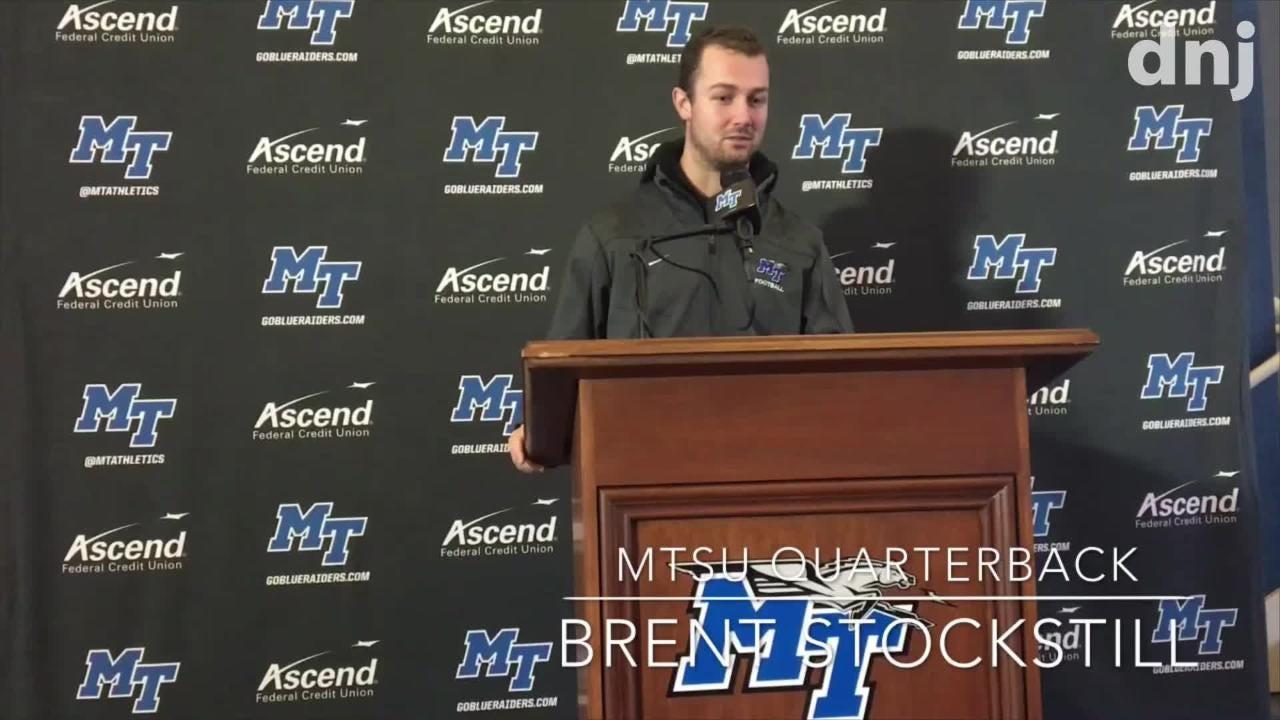 MTSU coach Rick Stockstill and quarterback Brent Stockstill preview the Blue Raiders game against Kentucky