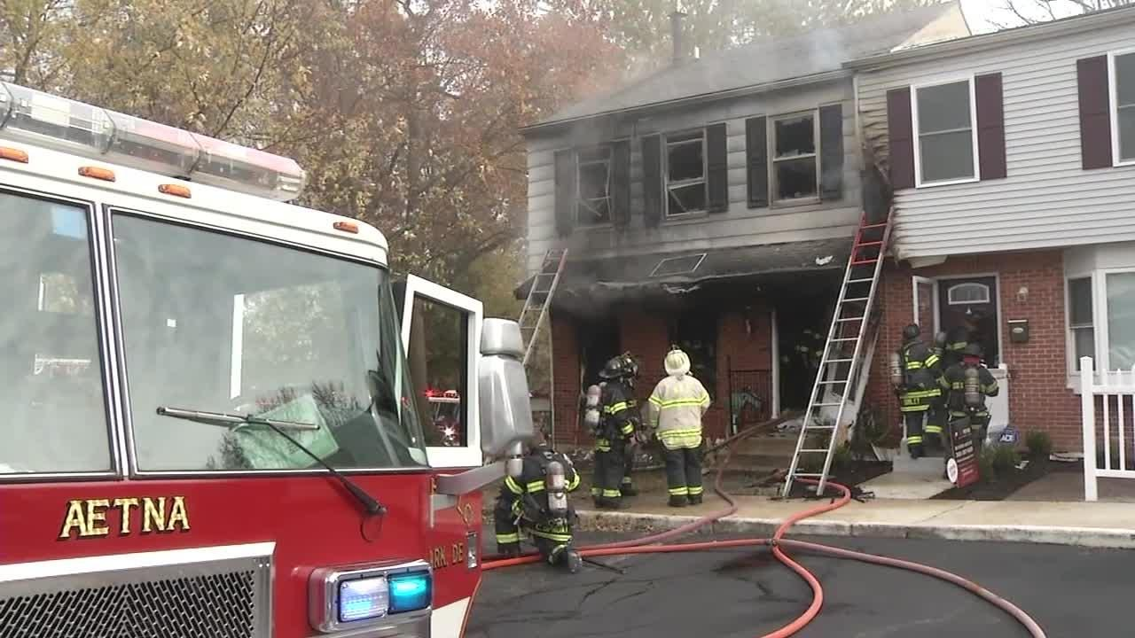 A 38-year-old woman was critically injured in a house fire Monday morning in the unit block of Waltham St.  Video by John J. Jankowski Jr.  11/12/18