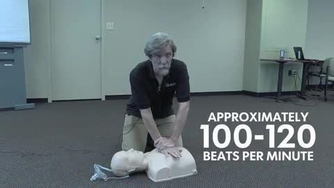 CPR demonstration presented by the American Red Cross