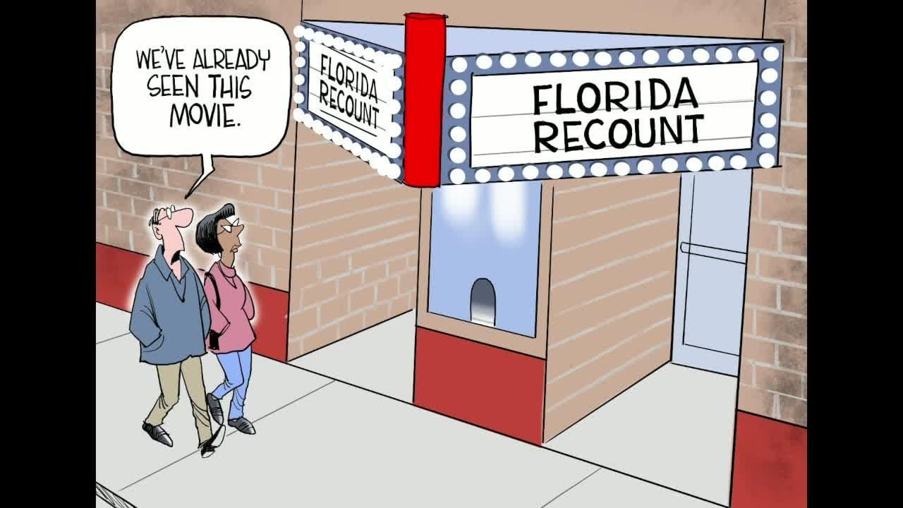 Watch Gary Varvel's time lapse video of him drawing the Florida recount.