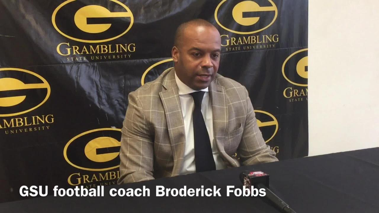Broderick Fobbs discusses Grambling's win at Alabam A&M