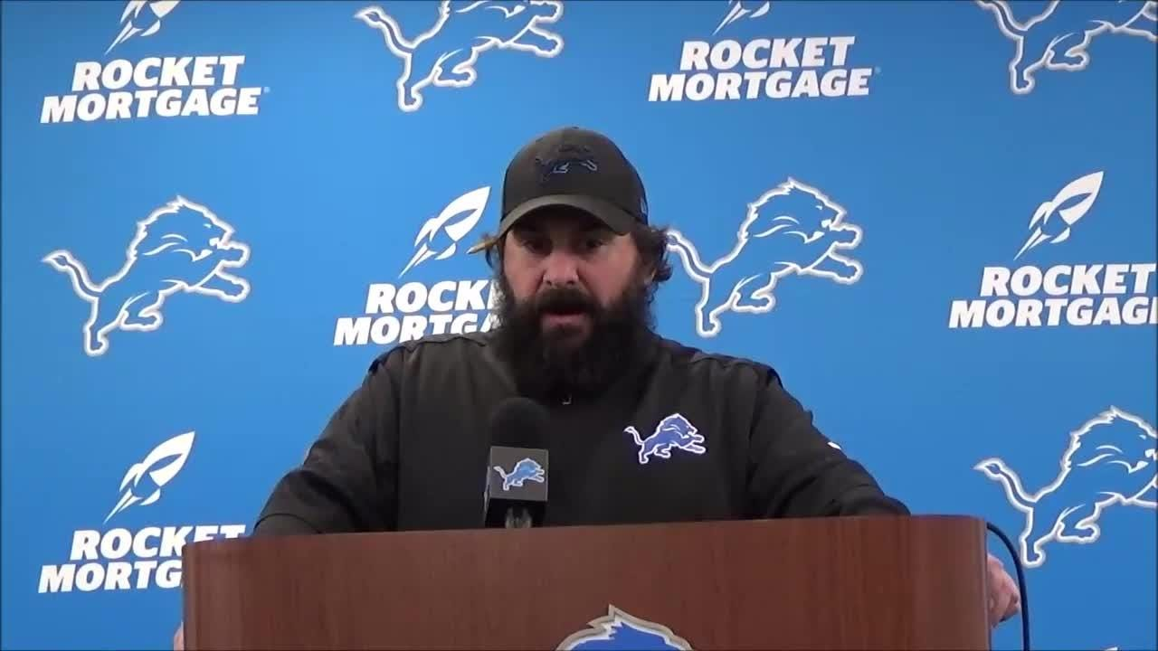 Lions coach Matt Patricia said Monday there are no immediate plans for additional staff changes or assuming defensive play-calling duties.