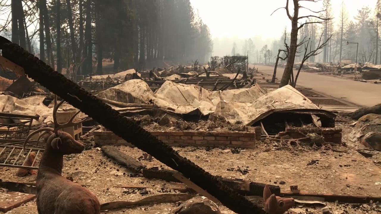 Camp Fire Paradise Mobile Home Park Destroyed