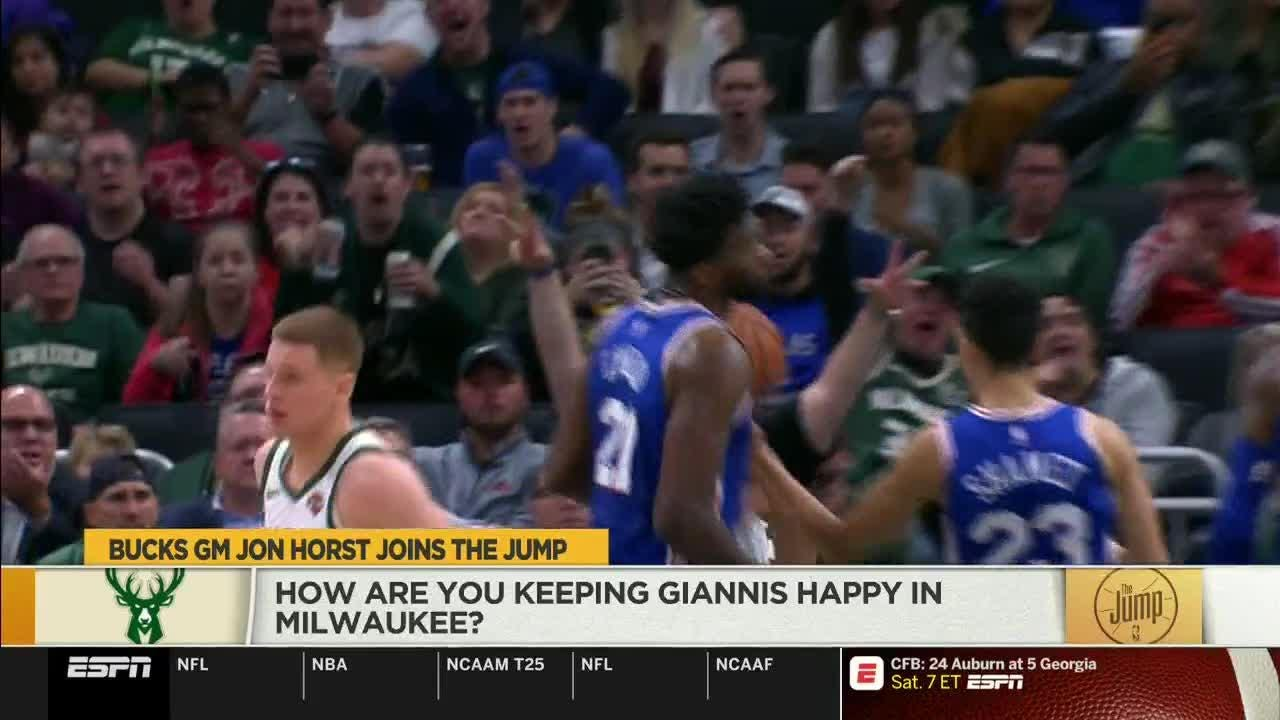 Bucks general manager Jon Horst stopped by ESPN's 'The Jump' to talk about his red-hot team after a win over the Golden State Warriors.