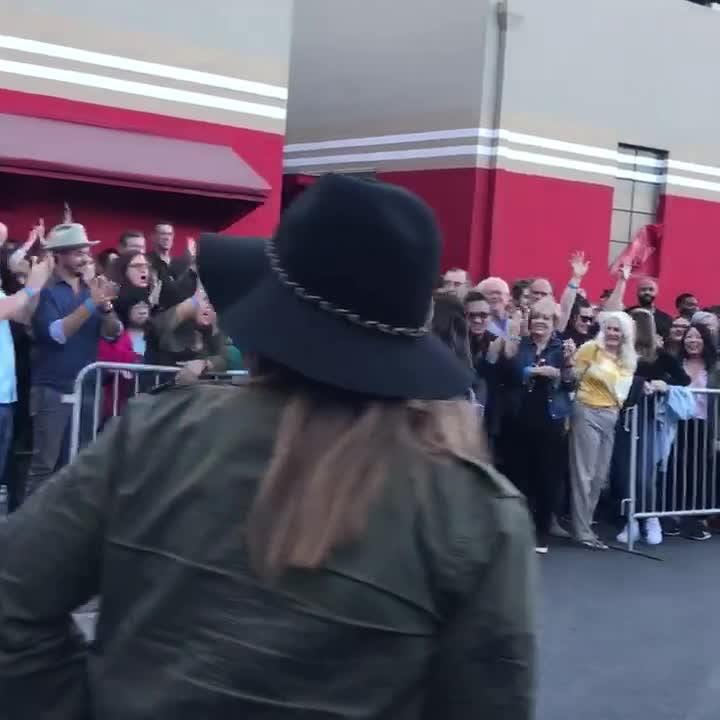 """Reagan Strange was cheered on and greeted by fans when she arrived to the Live Playoffs of """"The Voice"""" Monday"""