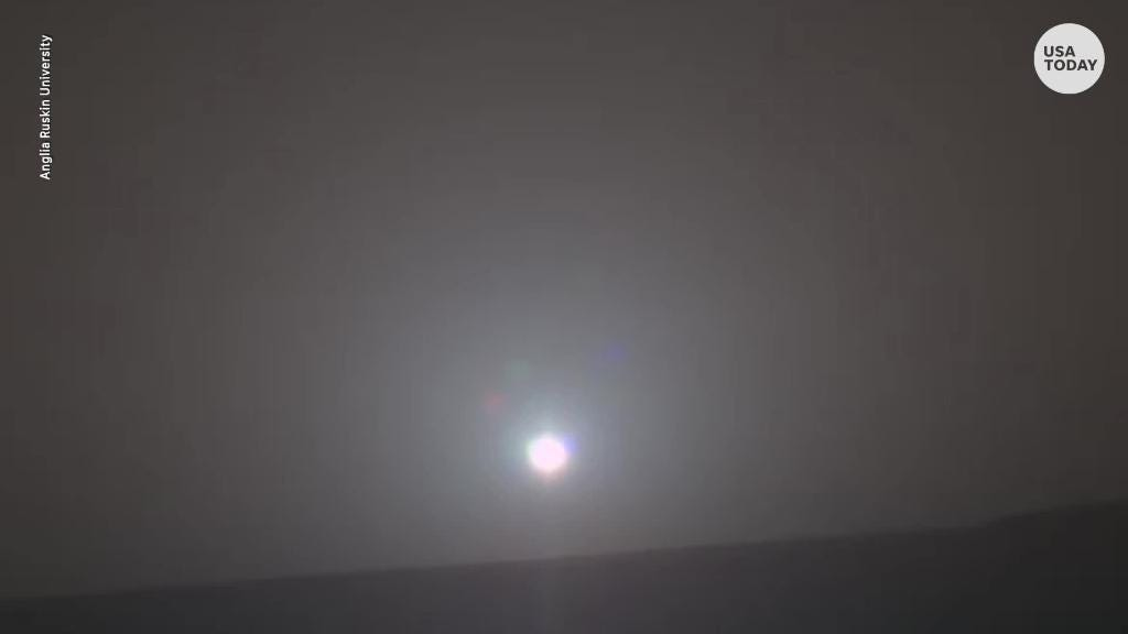 Scientists turned this picture of a sunrise from Mars into music