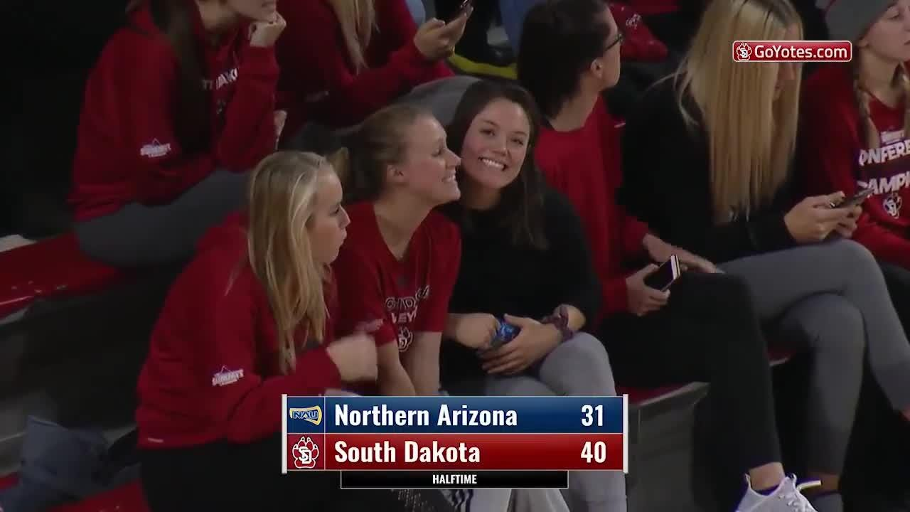 Highlights from USD's win over Northern Arizona on Monday night at the Sanford Coyote Sports Center.