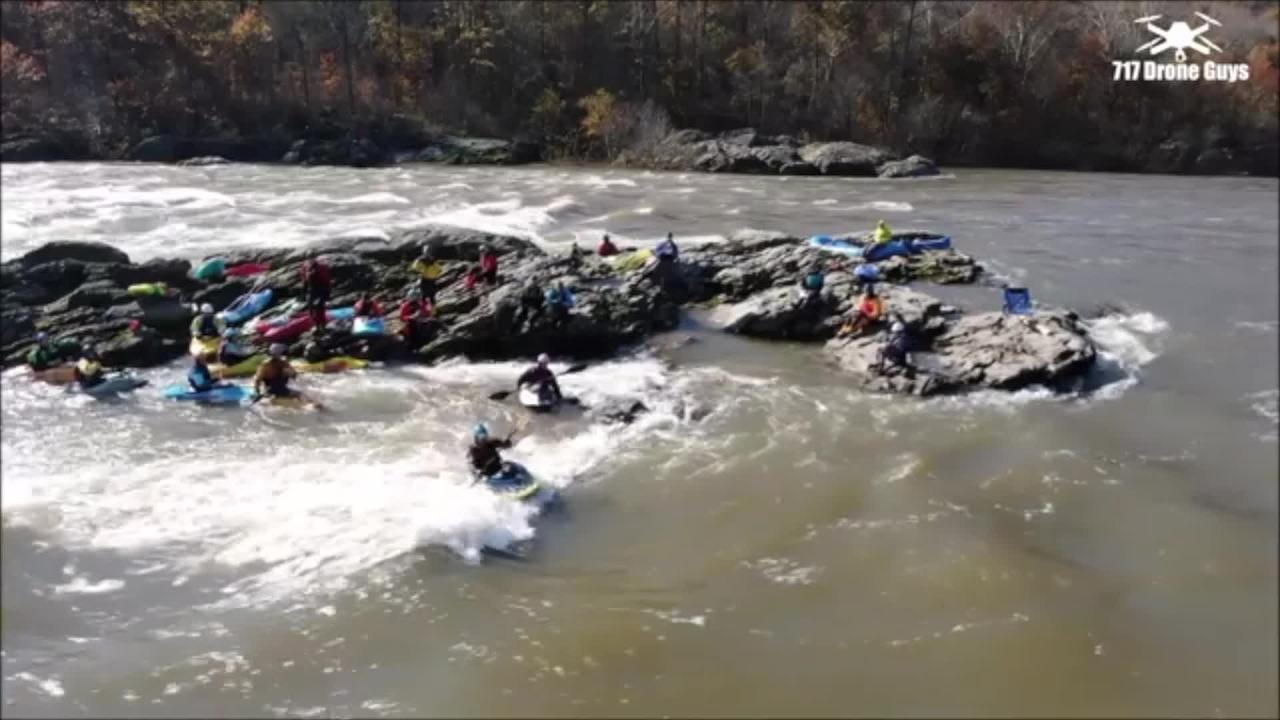 This 717 Drone Guys' video shows kayakers on the Susquehanna River.