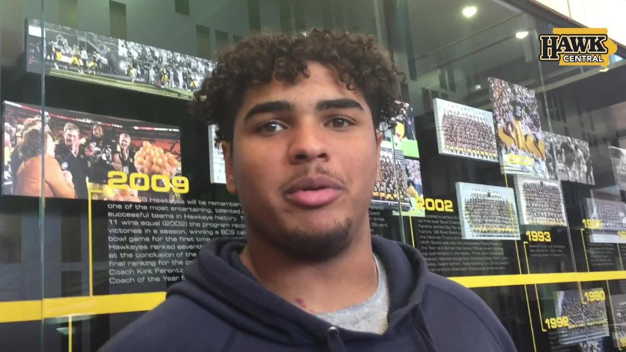 Iowa right tackle Tristan Wirfs discusses moving forward off the team's third straight loss.