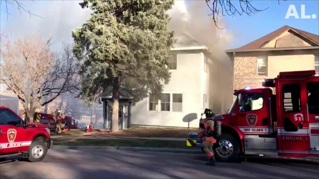 Nobody was injured after a home at Sixth and Spring caught fire on Tuesday afternoon. Nobody was inside, fire officials say.