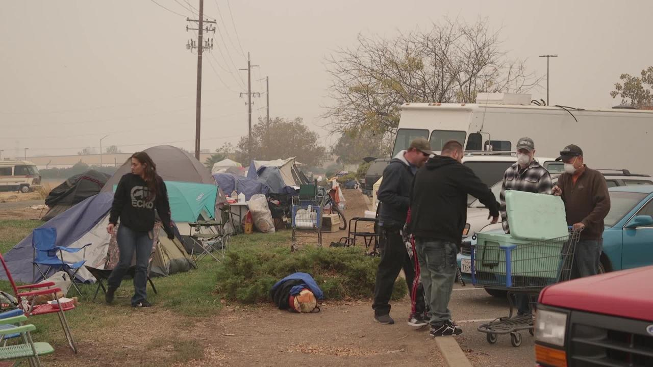 Family from Paradise sleeps in tent after losing home to Camp Fire