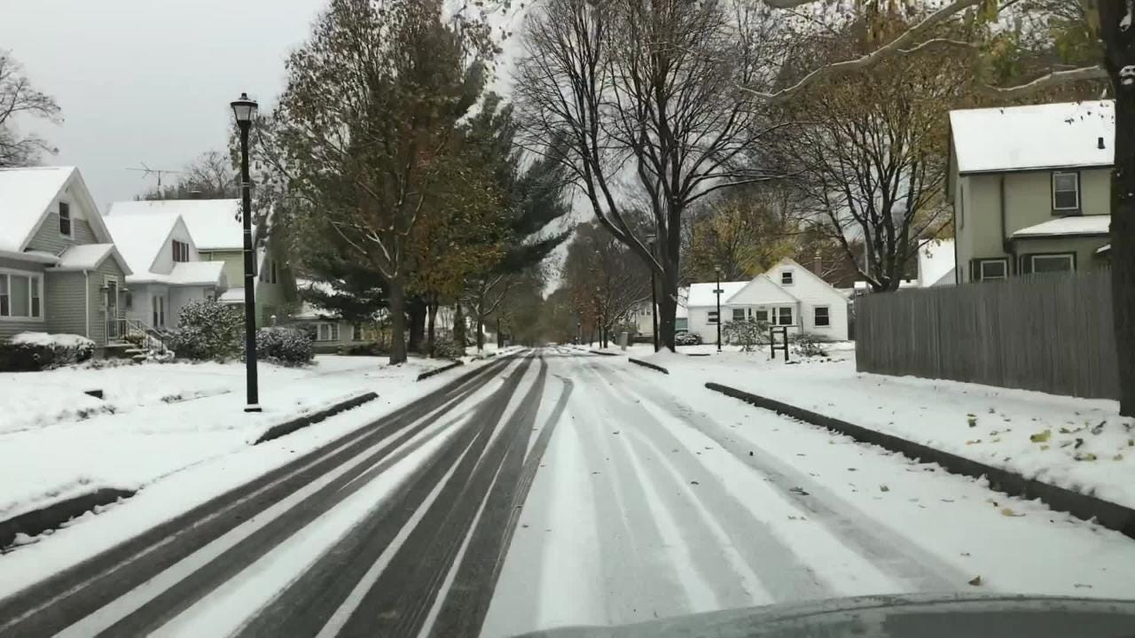 Tina Macintyre-Yee describes her drive through Charlotte this morning after Rochester's first snow fall with accumulation.
