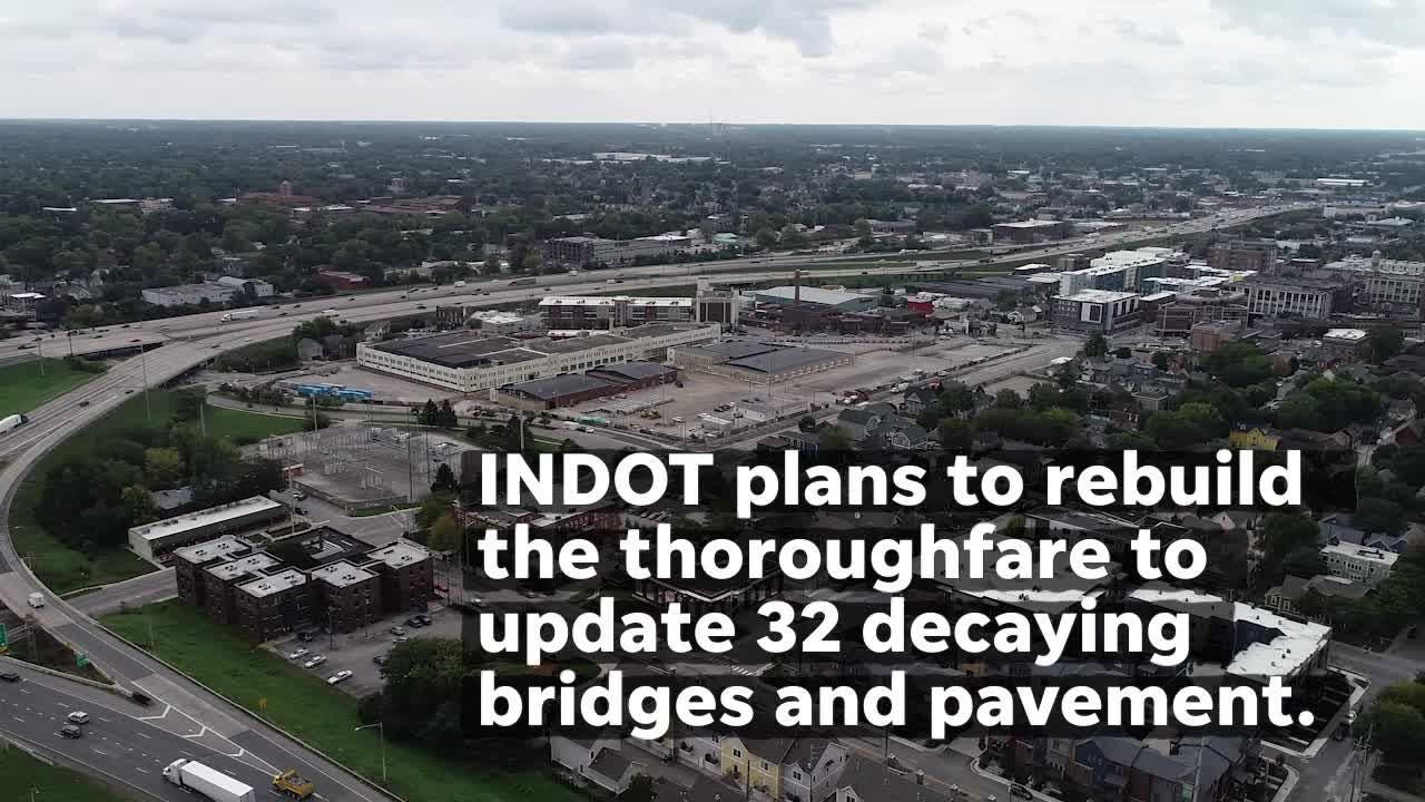 The interchange that carries more than 200,000 people daily is nearing the end of its structural life. See it from a bird's eye view.