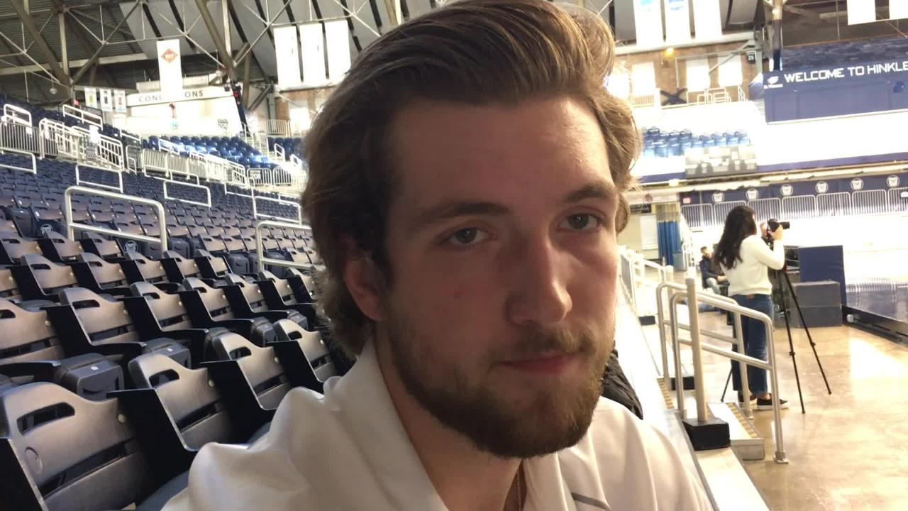 Butler's Joey Brunk talks about his late father and his summer workouts.