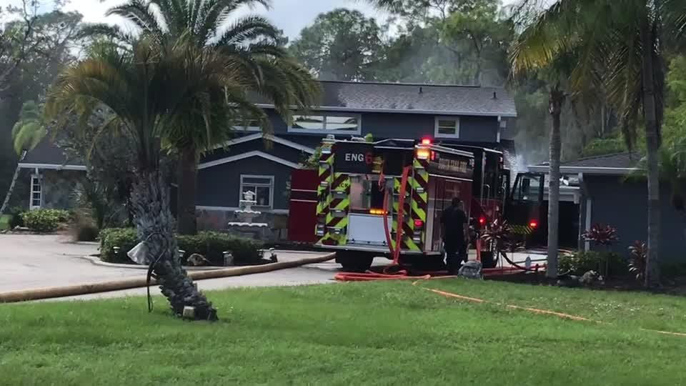 The lack of fire hydrants in a south Fort Myers neighborhood forced firefighters to lay about a third-mile of hose to fight a fire on Julip Court.