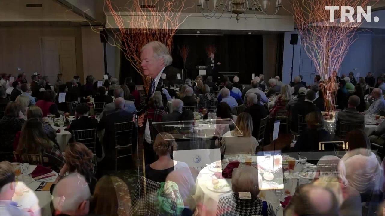 Michael Randle speaks at the Wichita Falls Chamber of Commerce Economic Forum Wednesday.