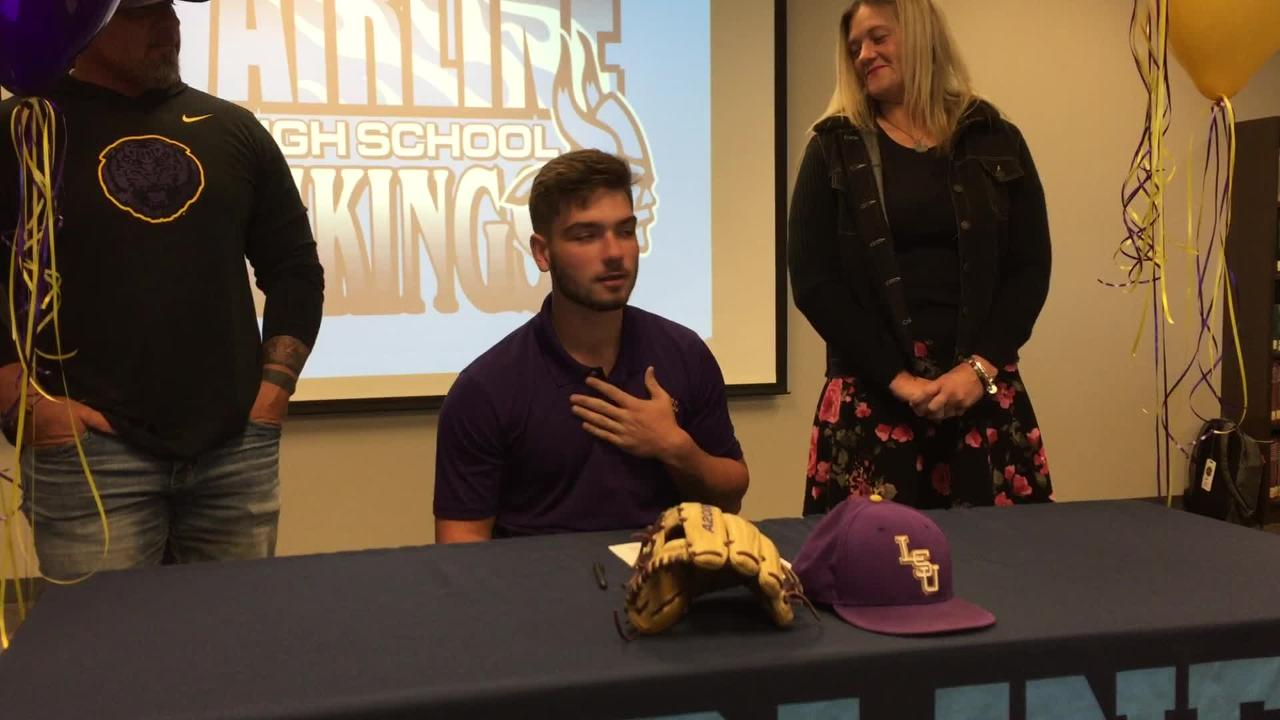 Airline's Hayden Travinski signs with LSU