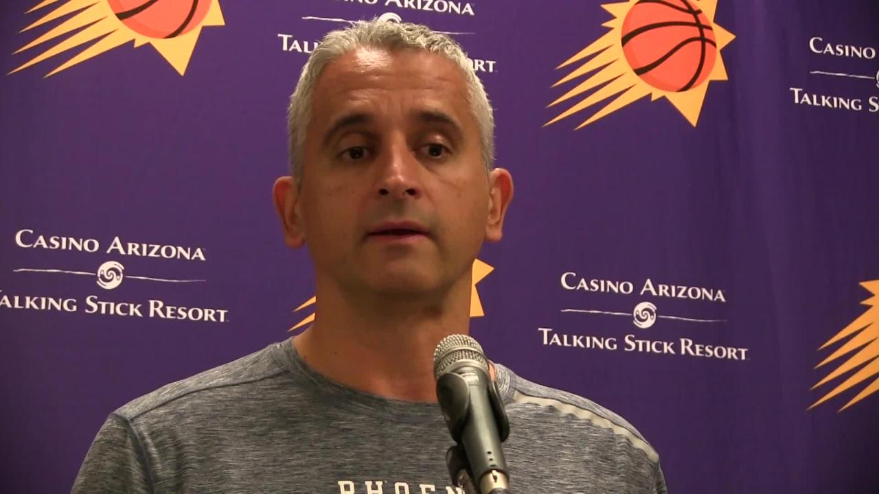Phoenix Suns first-year head coach Igor Kokoskov talks about what he expects out of his point guards before facing San Antonio on Wednesday night.