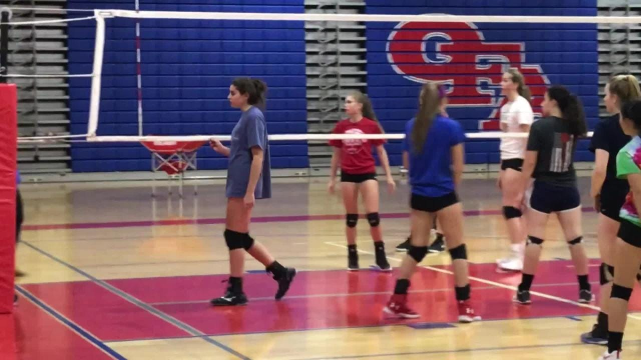 An Owego defender makes a nice block during Wednesday night's practice.