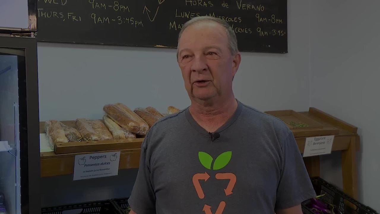 Kenneth Althoff has volunteered more than 1,000 hours at The Gleaning Project, helping low-income families and seniors get food in the community.