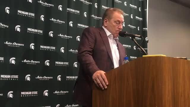Michigan State coach Tom Izzo after the Spartans' 80-59 win over Louisiana Monroe on Wednesday, Nov. 14, 2018.