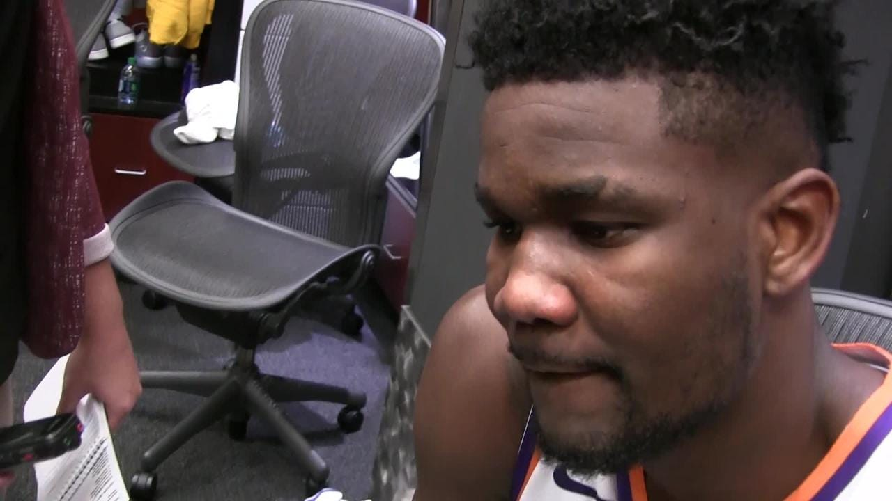 Phoenix Suns rookie 7-footer Deandre Ayton talks about Wednesday's 116-96 win over San Antonio Spurs at Talking Stick Resort Arena.