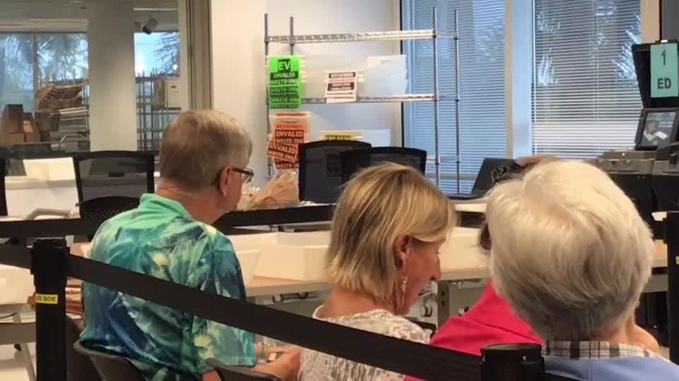 Activity to finalize the machine recount of votes cast in the Nov. 6 midterm elections in Lee County resumed Thursday morning.