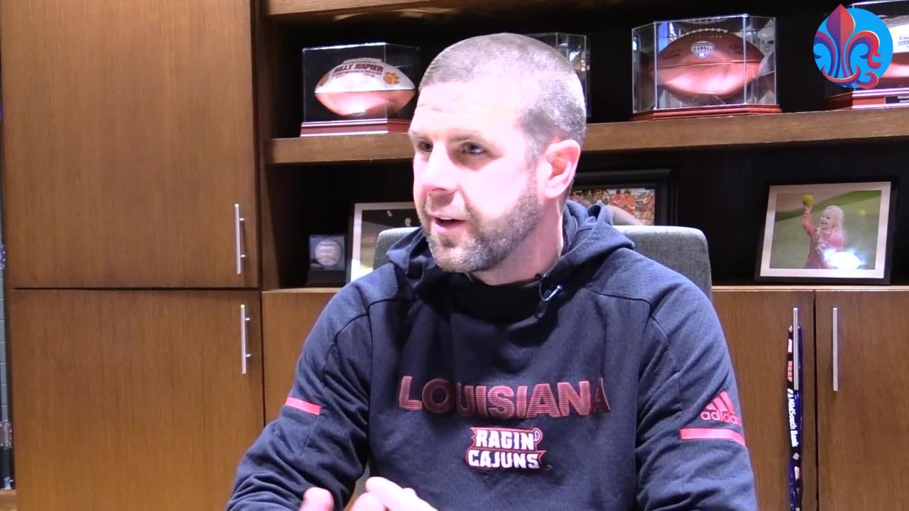 Colleges  across the US are struggling with football game attendance.  Billy Napier hopes fans will watch the Cajuns attempt to make history.