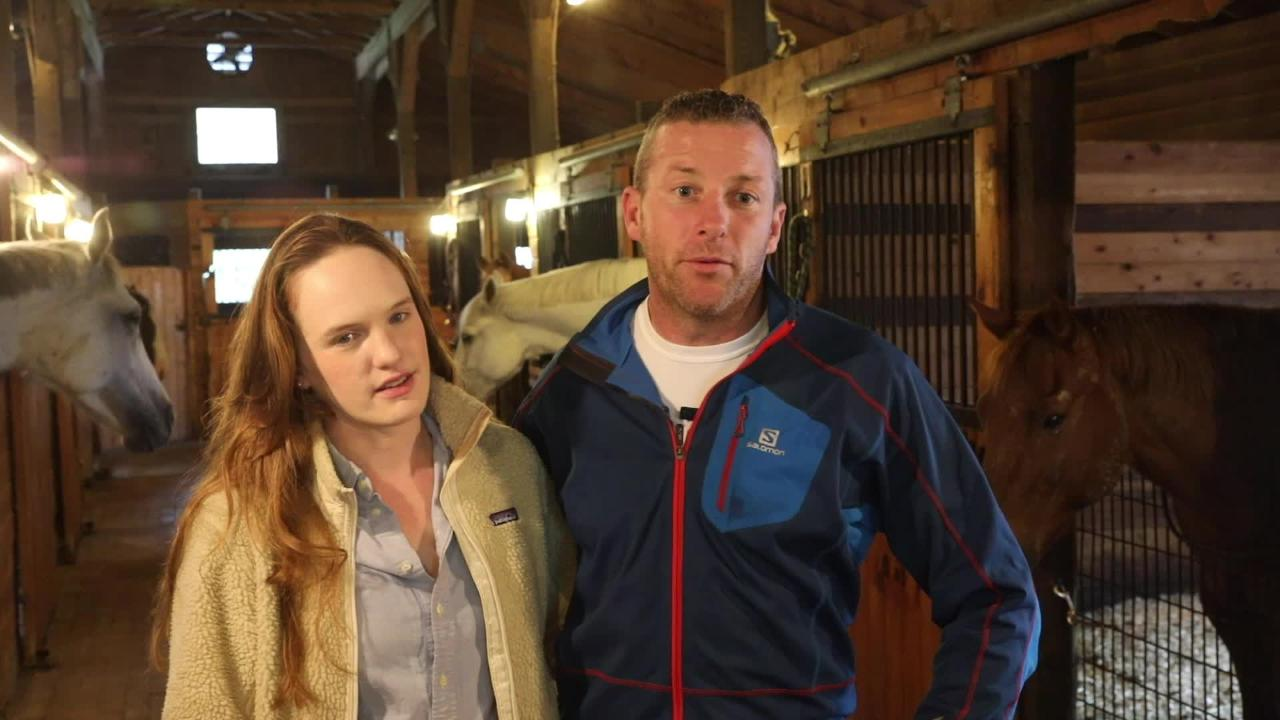 Caroline Goodman-Thomases, 30, and James McKenna, 41, talk about restoring their farm in Clinton Corners Oct. 2, 2018.
